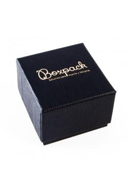 Caja de carton forrada alta calidad para Anillo Sortija de joyeria y bisuteria P42