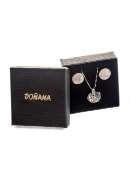 Caja de carton alta calidad para Juego de colgante y pendientes de joyeria y bisuteria P61