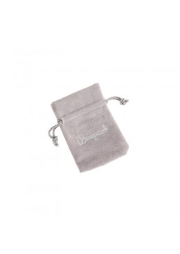 Bolsa de terciopelo color gris para joyeria bisuteria y joyas 65x95mm 301-G