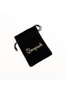 Bolsa de terciopelo color negro para joyeria bisuteria y joyas 105x145mm 303-N