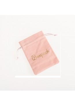 Bolsa de terciopelo color rosa palo para joyeria bisuteria y joyas 105x145mm 303-RP