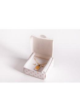 Caja y bolsa de carton infantil para joyeria de bebe