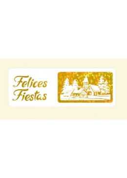 3-312 FELICES 55x20 mm. Rollo de 500 etiquetas