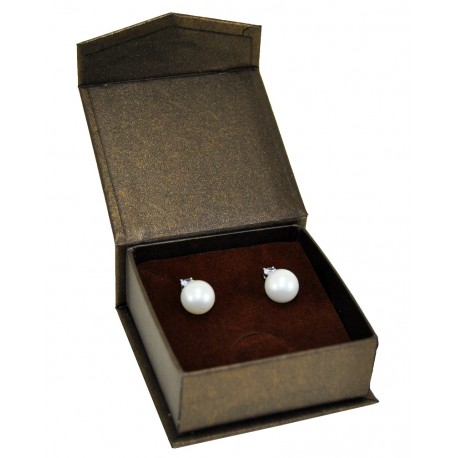 Estuche de carton con cierre imantado para pendientes de joyeria bisuteria y joyas MG2