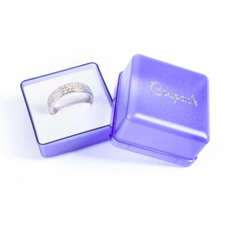 Cajita de plastico para anillo sortija joyas A-3