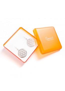 Cajita de plastico para juego de colgante y pendientes de joyeria y bisuteria A-5