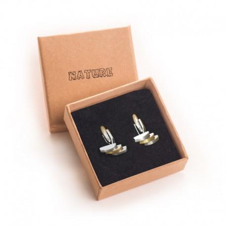 Caja de carton para gemelos de joyeria bisuteria y joyas N61G