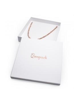 Caja de cartón forrada de papel para collar o colgante de joyería y bisutería IP-19